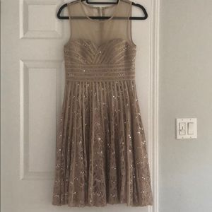 JS Collections Champagne Party Dress Size 6